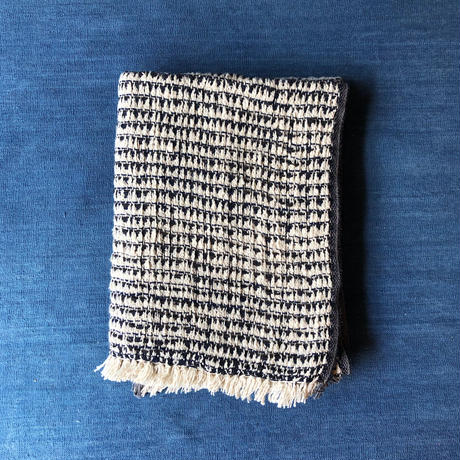 Gara-bou Blanket Stole Kabe 100×190cm (Triangle - Indigo)