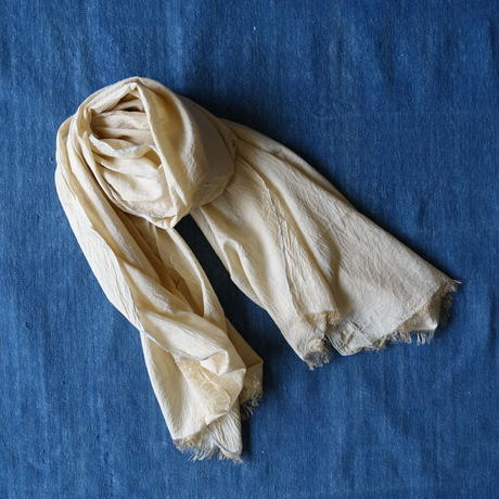 Cotton Silk Khadi Stole (Beige)
