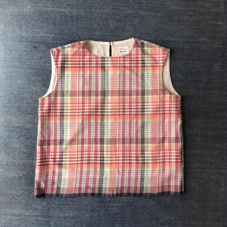 #80 Khadi Sleeveless Tops (Pink)