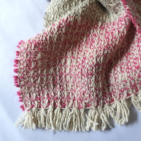 Gara-bou Muffler Stole Kabe 22×190cm (Mix border - Pink)