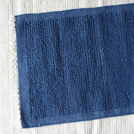Cotton Looped Rug 60×90 (Indigo)