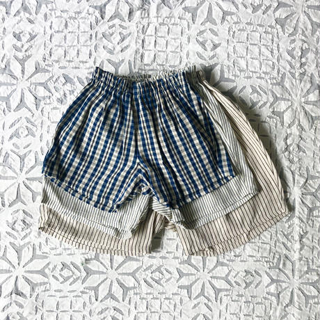OG 2x1 Khadi Kid's Short Pants ( Charcoal Pin Stripe )