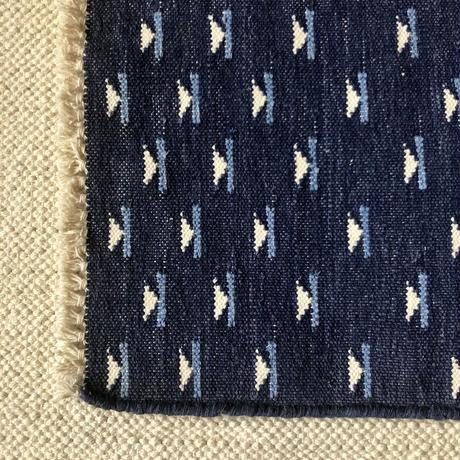 Fine Cotton Indigo Jacquard Mat 35×45 (Dark Indigo)