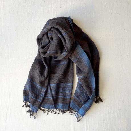 Organic Khadi Basket Bath Towel (Iron Black)