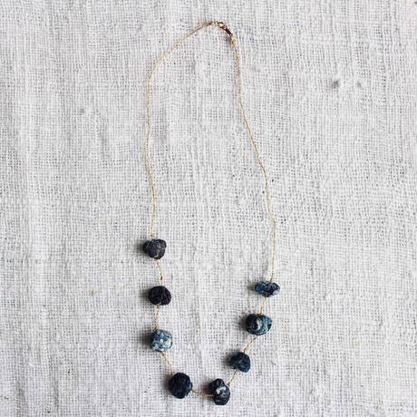 Cotton Stone Necklace (Dark Indigo)