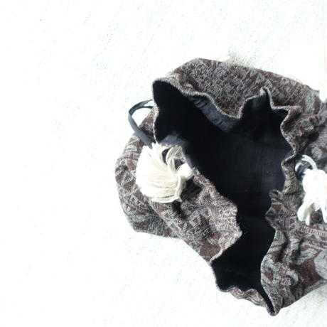 Silk Cotton Printed Drawstring Bag S