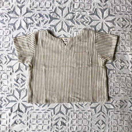 OG 2x1 Khadi Kid's Pullover ( Charcoal Pin Stripe )