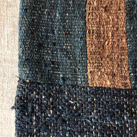 Tussah Patched Mat 50x70  #Indigo