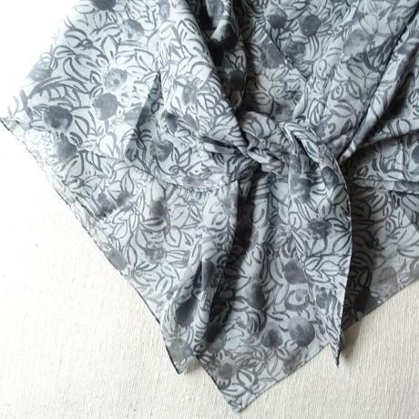Cotton Silk  Printed Stole S (Blaoga Gray)