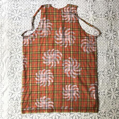 Plaid Printed Apron Dress (Red)