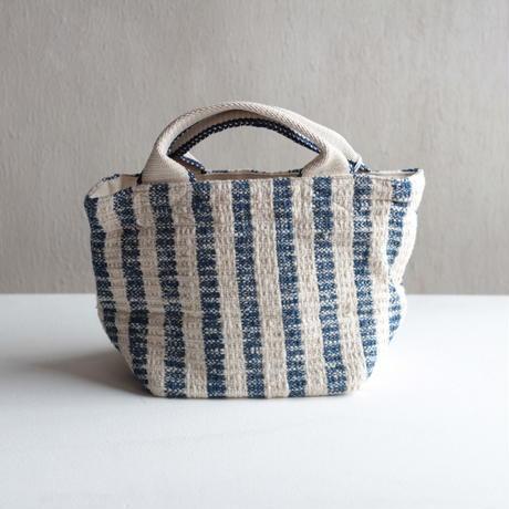 Gara-bou × Canvas Small Tote (Indigo Stripe)