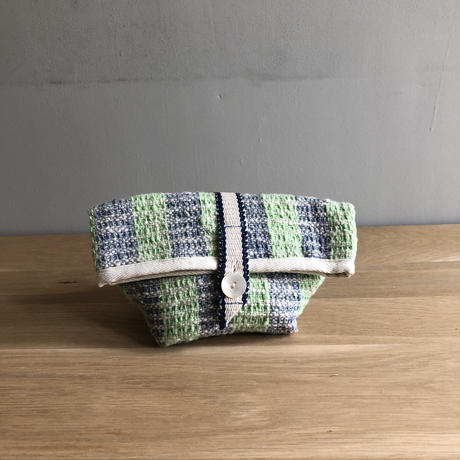 Gara-bou Pouch (Light Green Stripe)