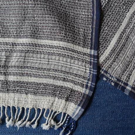 Organic Khadi Basket Face Towels (Gray Chambray)
