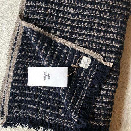 Gara-bou Blanket Stole Kabe 100×190cm (Triangle - Navy Gray)