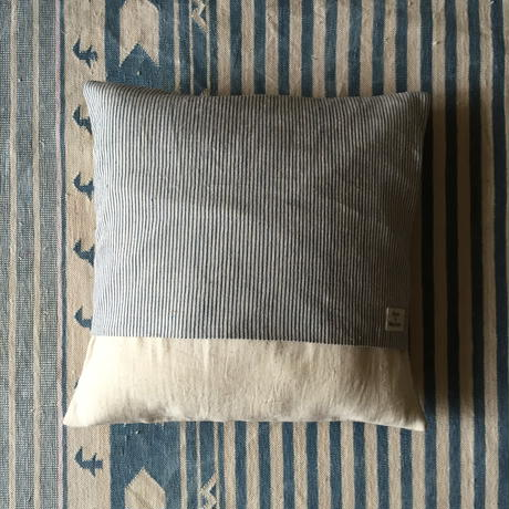 Gara-bou × Khadi Cushion Cover (Ice Ivory)