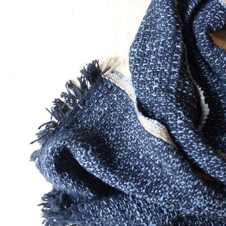 Gara-bou Medium Stole 1ply 50×190cm (Light Indigo)