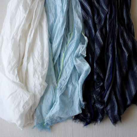 Cotton Silk Khadi Stole (Blue Stripe)