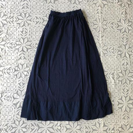 Gara-bou x Khadi Skirt Natural Dyed (Indigo)