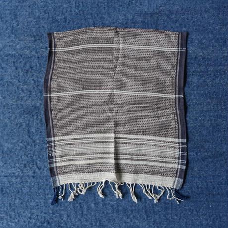 Organic Khadi Basket Hand Towels (Indigo Chambray / Gray Chambray)