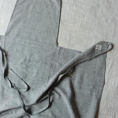 Organic Khadi Full Apron (Brush Gray)