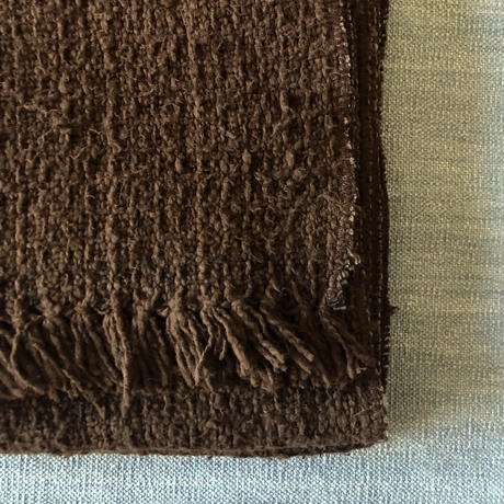 Gara-bou Medium Stole Amami Dyed Kabe 50×190cm (Mud)