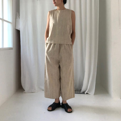 Silk Pants (Ivory Stripe)