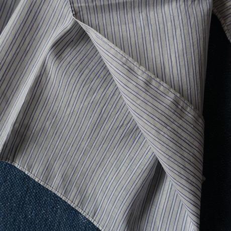 #100 Khadi Stripe Stole 54×180 (White)