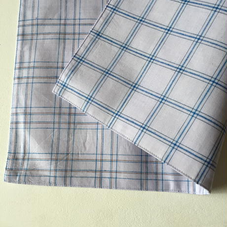 Lungi White Plaid Place Mat #B