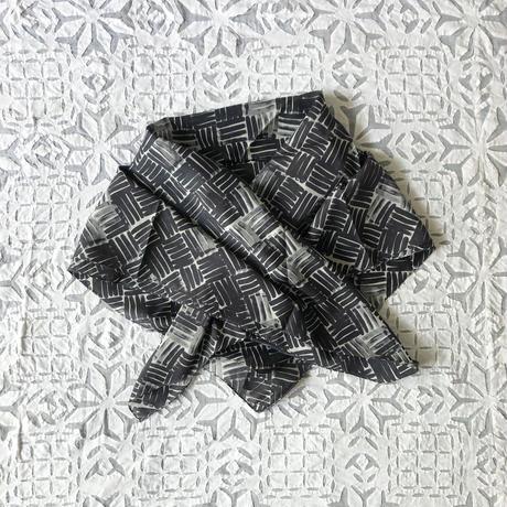 Cotton Silk  Printed Stole S (Woven Gray)