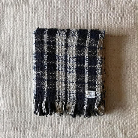 Gara-bou Medium Stole WS Kabe 50×190cm (Navy Check)