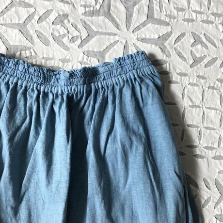 Gara-bou x Khadi Skirt Natural Dyed (Light Indigo)