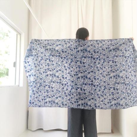 Cotton Silk  Printed Stole L (Blaoga Blue)