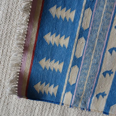 Fine Cotton Indigo Rug 60x90