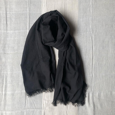 Cotton Silk Khadi Stole Natural Dyed (Mud)