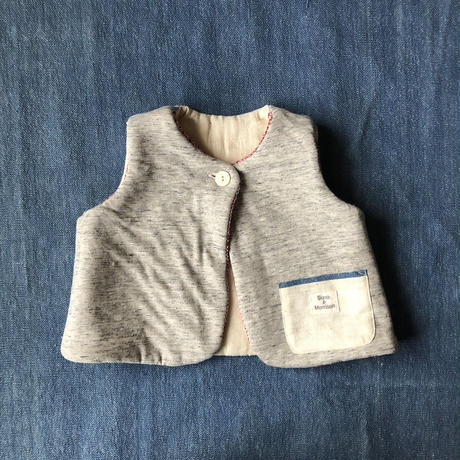 Gara-bou Baby Vest (Brush red)