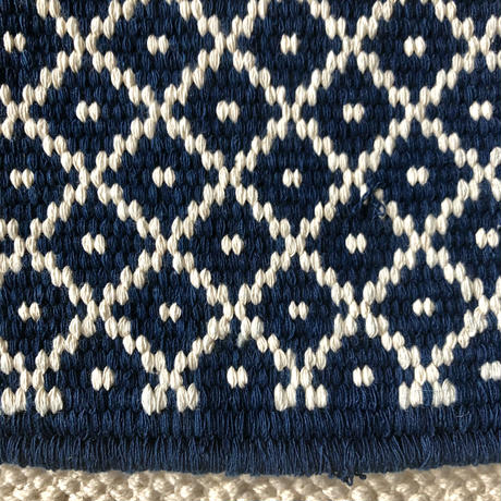 Cotton Nomad Rug 48x160 Kitchen Mat (Indigo)