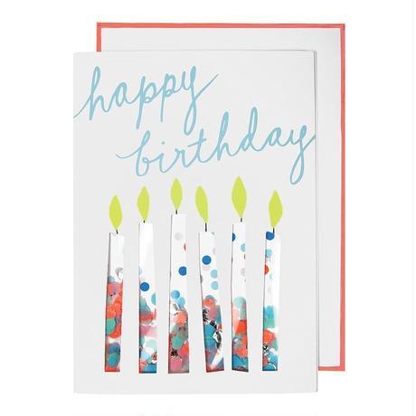 Confetti Candles Card