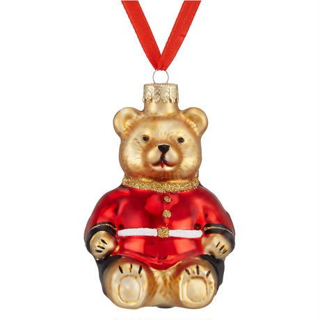 Glass Guardsman Bear Bauble