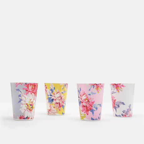 BEAU Set of Four Beakers Floral