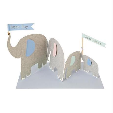 Concertina Elephants Card