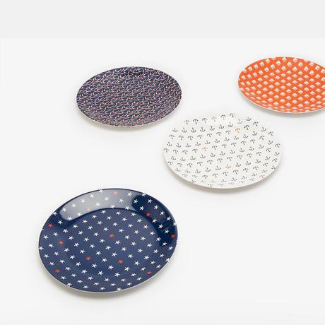 BLAZE Set of Four Plates Seaside