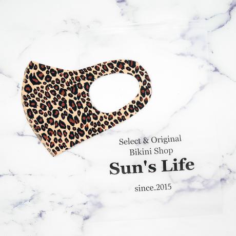 即納 Sun'sLifeオリジナル 速乾性ATマスク Leopard