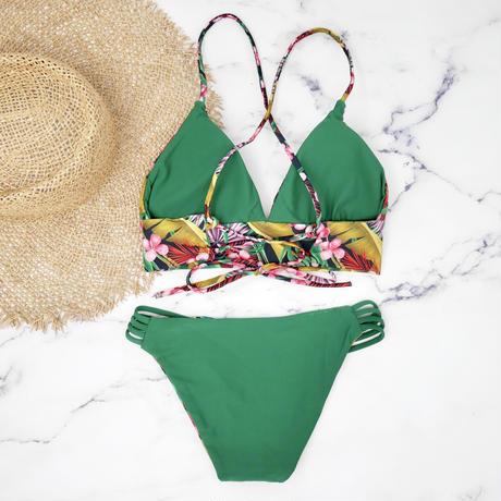 即納 A-string reversible long under bikini Deep green