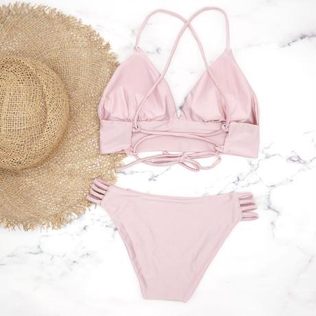 即納 A-string long under solid bikini Blusher