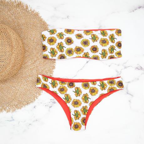 即納 Tube top reversible bandeau  bikini Sunflower