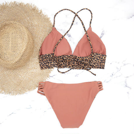 即納 A-string reversible long under bikini Clash Leopard