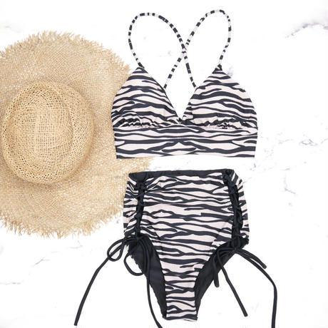 即納 A-string high waist long under bikini Zebra
