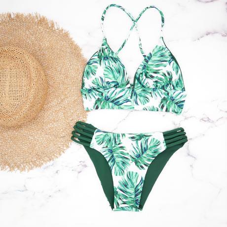 即納 A-string reversible long under bikini Leaf green