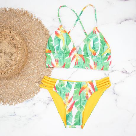 即納 A-string reversible long under bikini Tropical yellow