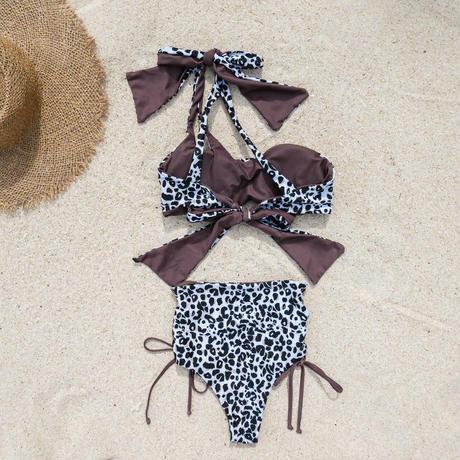 即納 【Sun'sLifeオリジナル】 Asymmetrical one shoulder ribboned bikini